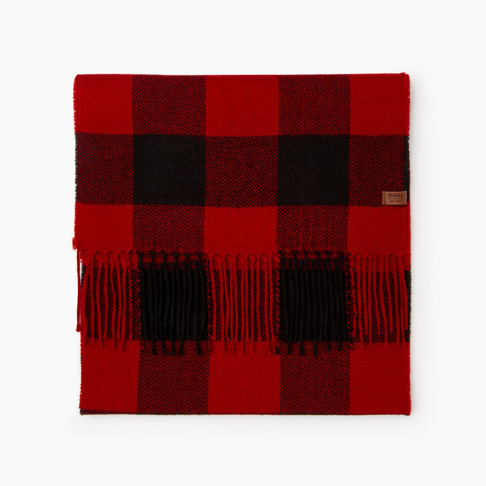 Roots-Men Our Favourite New Arrivals-Roots Park Plaid Scarf-Cabin Red-B