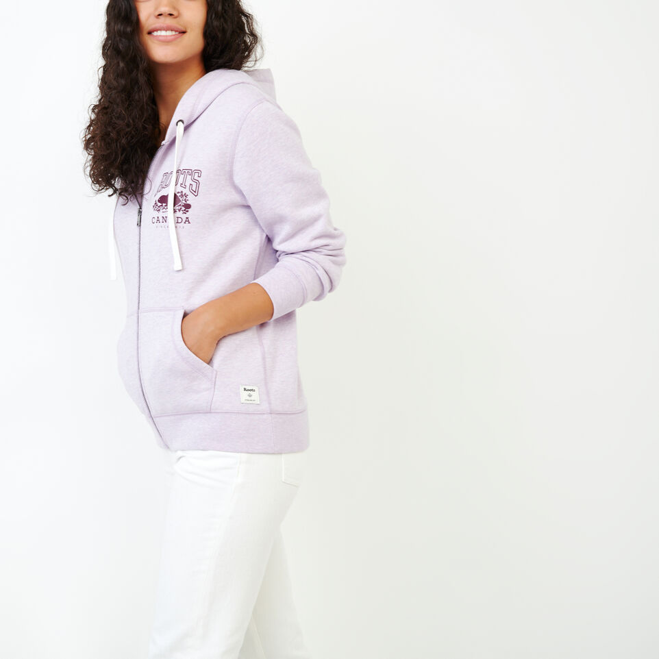 Roots-Women Categories-Classic Full Zip Hoody-Lupine Mix-C