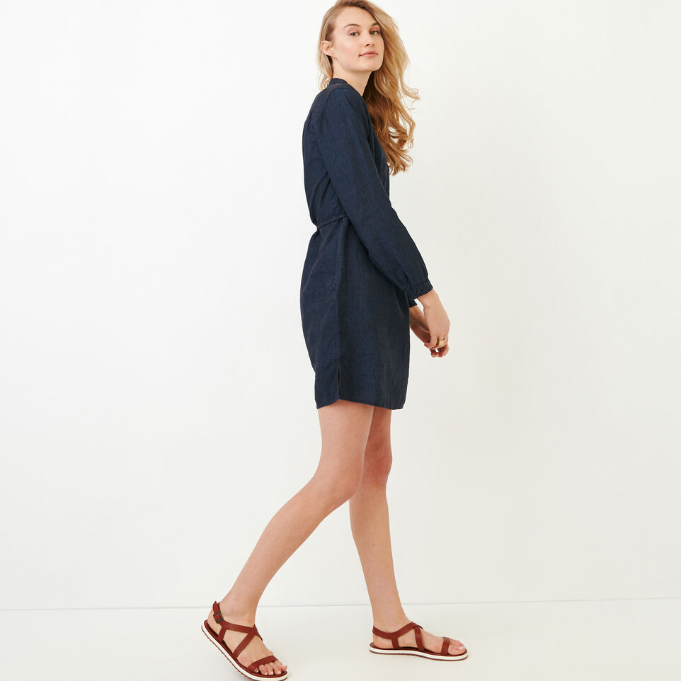 Roots-Women Our Favourite New Arrivals-Camrose Dress-Indigo-C
