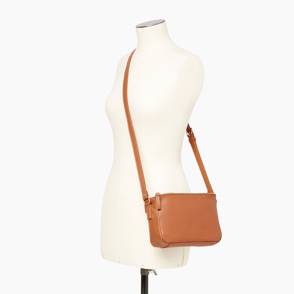 Roots-Leather Categories-Main Street Crossbody-Caramel-B