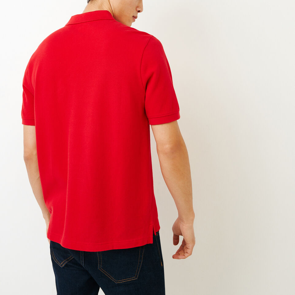 Roots-Men Categories-Heritage Pique Polo-Racing Red-D