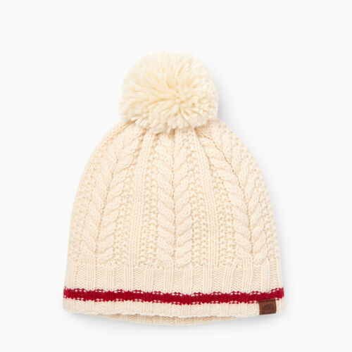 Roots-Clearance Women-Liscomb Pom Pom Toque-Light Fog-A