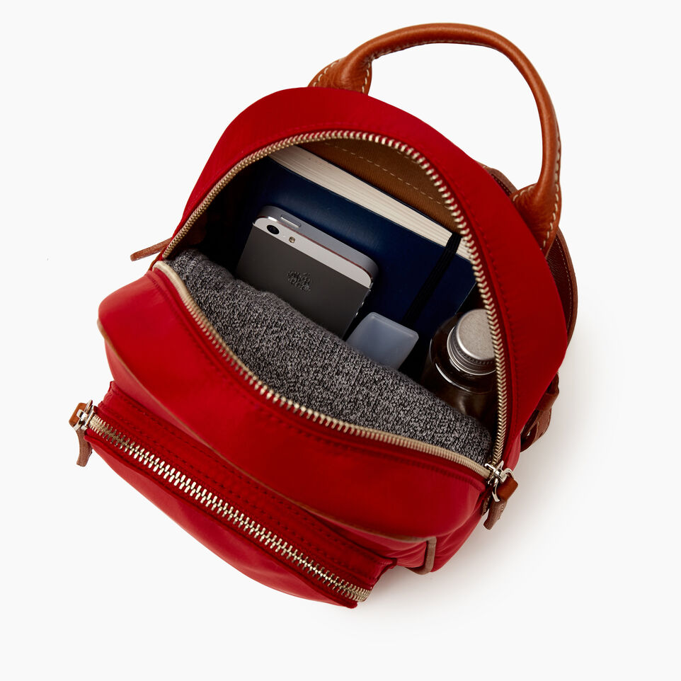 Roots-Cuir Sacs Style Urbain-City Chelsea Pack Nylon-Rouge-D