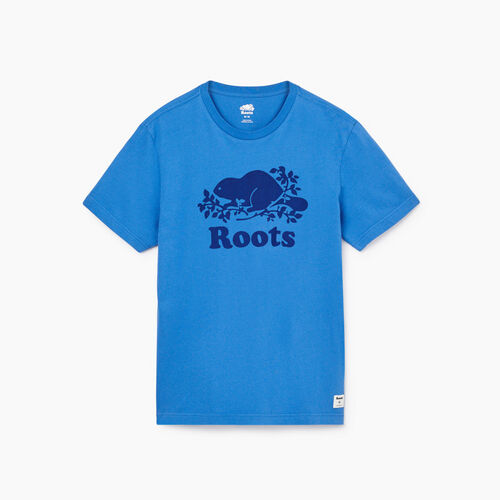 Roots-Men New Arrivals-Mens Cooper Beaver T-shirt-Federal Blue-A