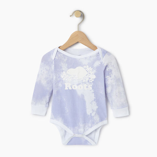 Roots-Kids Our Favourite New Arrivals-Baby Cooper Beaver Bodysuit-Thistle-A