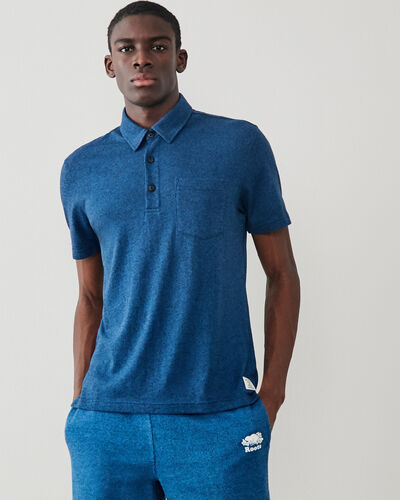 Roots-Men Shirts & Polos-Jersey Peppered Polo-Indigo Pepper-A