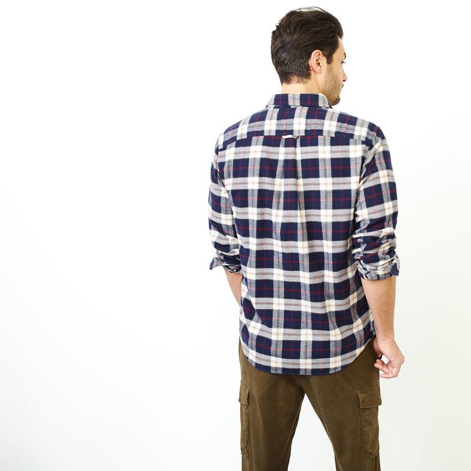 Roots-Men Clothing-Manning Flannel Shirt-Navy Blazer-D