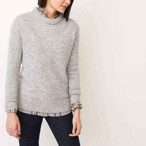 Roots-Women Sweaters & Cardigans-Kenora Crew Sweater-Grey Mix-A