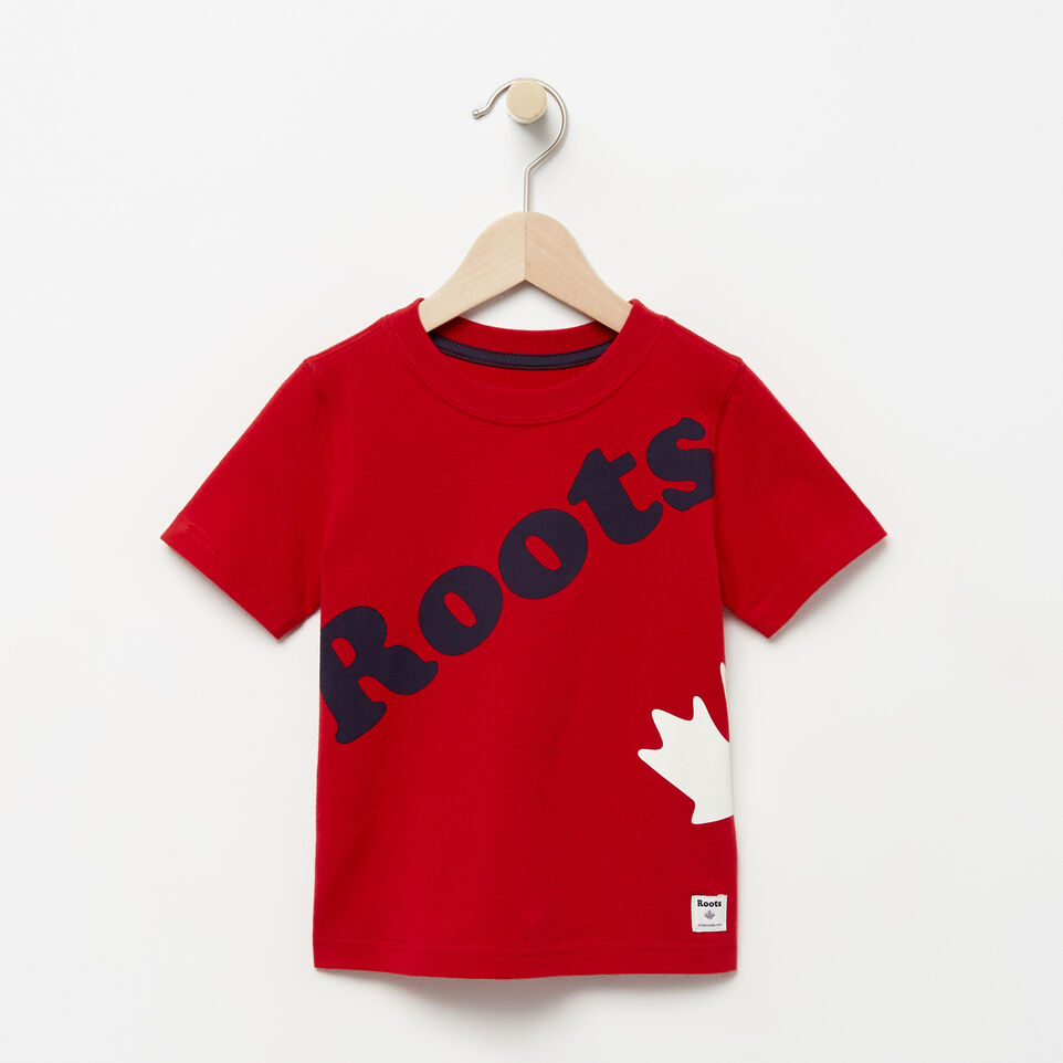 Roots-undefined-Toddler Diagonal Roots T-shirt-undefined-A