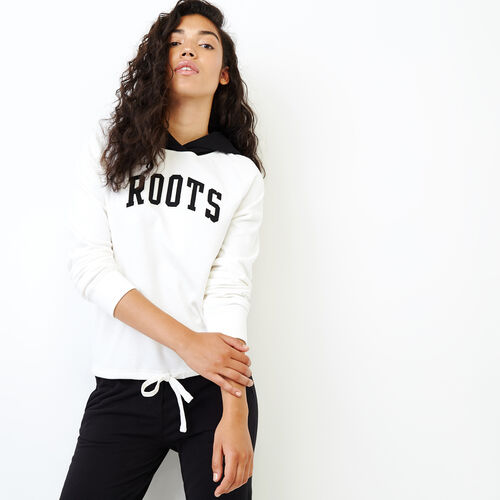 Roots-Women Categories-Colourblock Hoody-Ivory-A