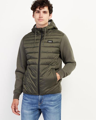 Roots-Men Jackets & Outerwear-Journey Hybrid Jacket-Loden-A
