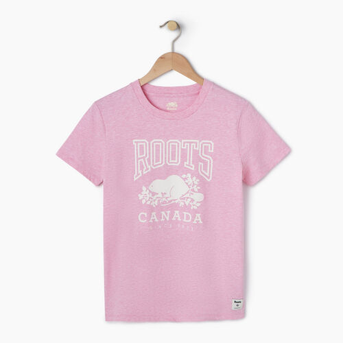 Roots-Women Bestsellers-Womens Classic Roots Canada T-shirt-Fuchsia Mix-A