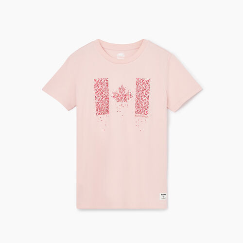 Roots-New For August T-shirts & Shorts-Womens Canada Flag T-shirt-Peachskin-A