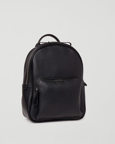 Roots-Leather Backpacks-Chelsea Pack Cervino-Black-A