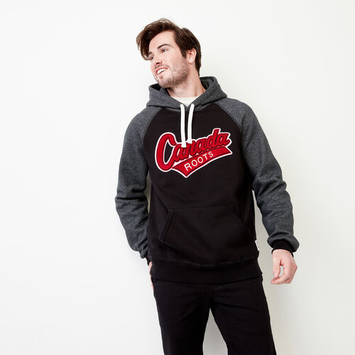Roots-Clearance Men-Canada Hoody-Black-A
