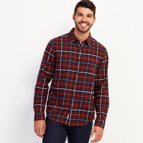 Roots-New For October Plaids-Manning Flannel Shirt-Sassafras-A