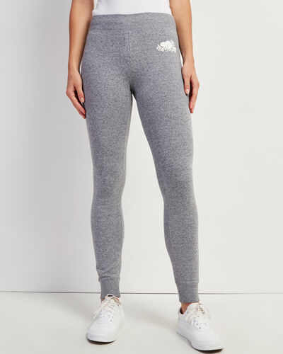 Roots-New For This Month Women-Cozy Fleece Skinny Sweatpant-Salt & Pepper-A