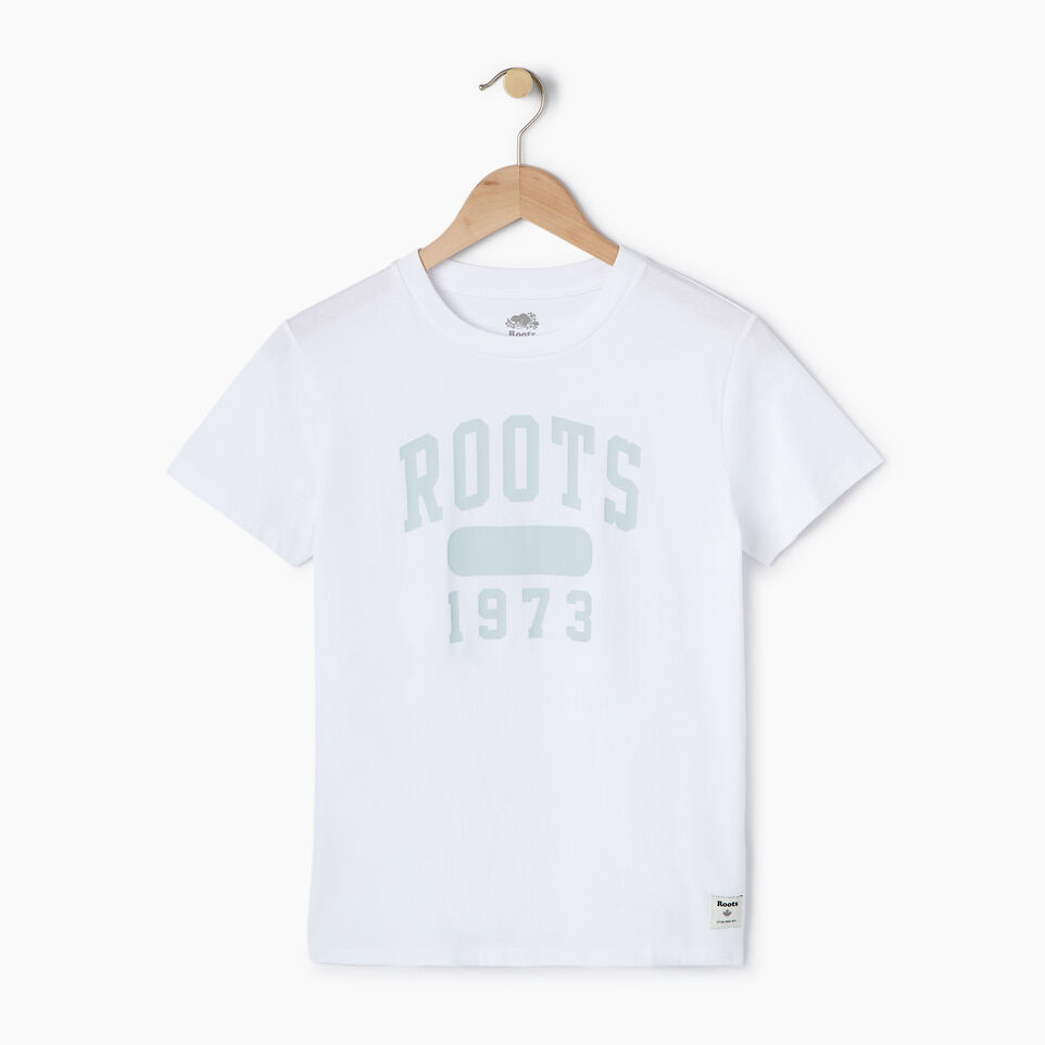 Roots-New For July Daily Offer-Womens Block 1973 Canada T-shirt-Crisp White-A