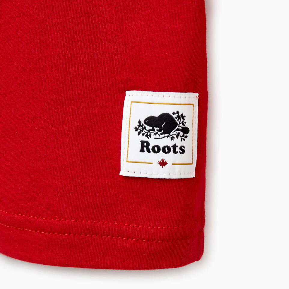 Roots-Kids Our Favourite New Arrivals-Boys Bedford T-shirt-Sage Red-D