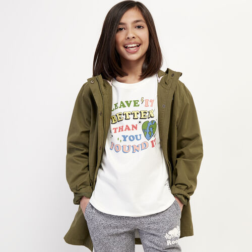 Roots-Kids New Arrivals-Girls Roots Earth T-shirt-Natural-A