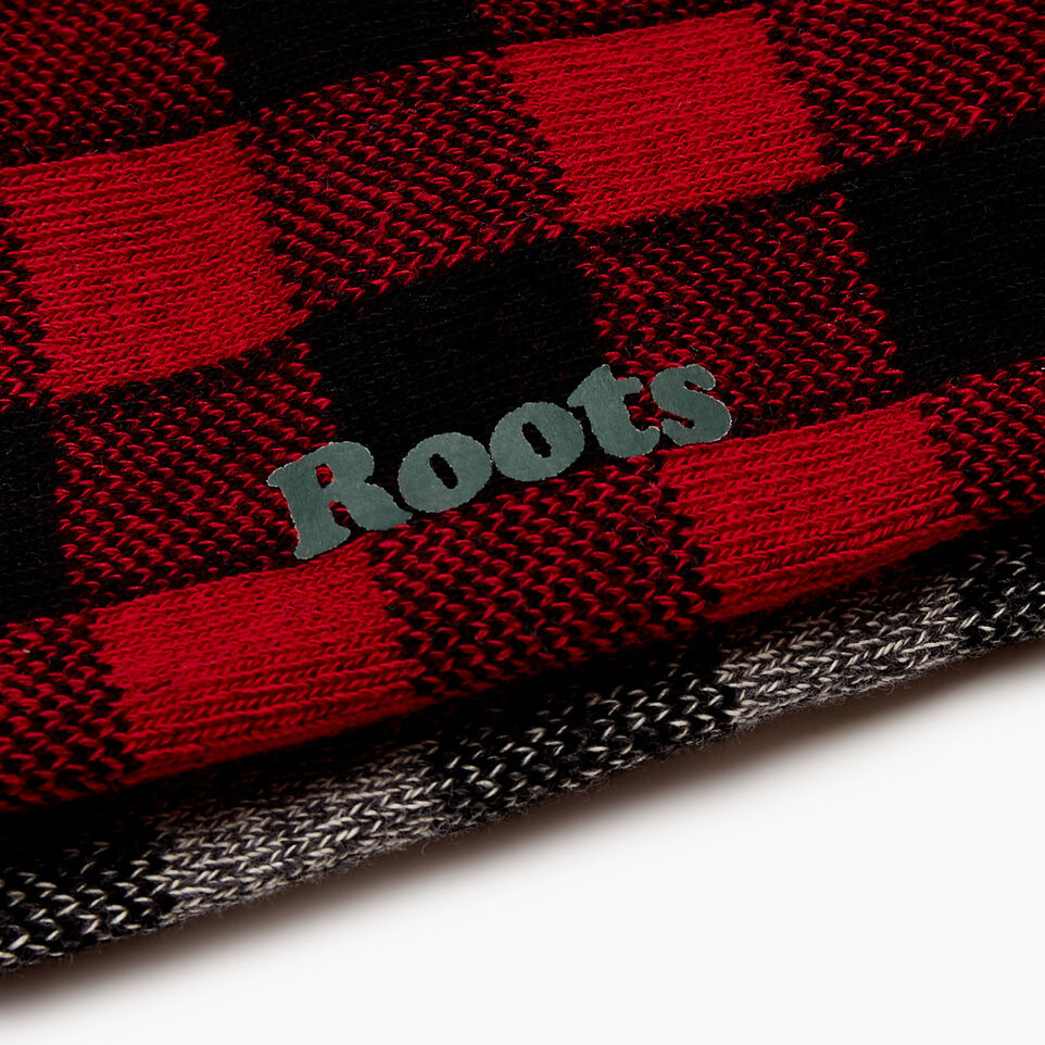 Roots-Women Our Favourite New Arrivals-Park Plaid Ankle Sock 2 Pack-Cabin Red-D