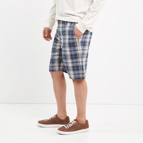 Roots-Winter Sale Bottoms-Madras Shorts-Cascade Blue-A