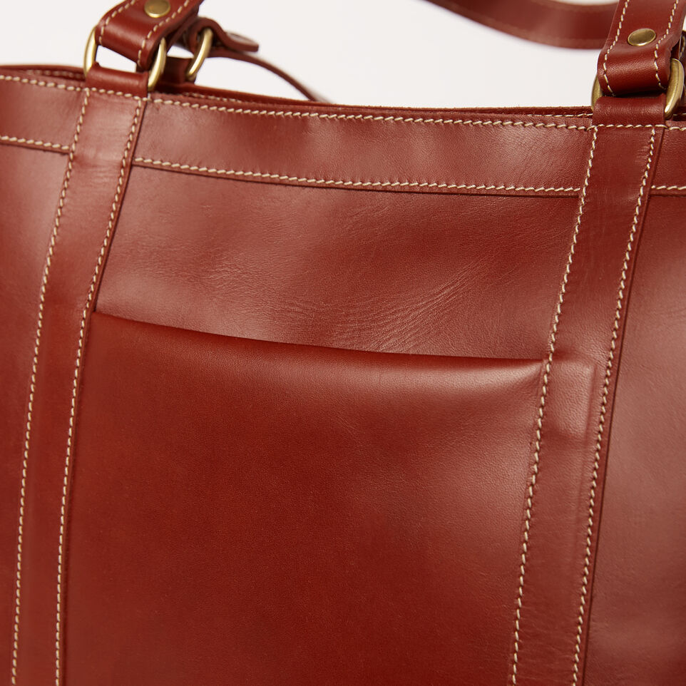 Roots-Clearance Leather-Market Tote Heritage-Oak-D