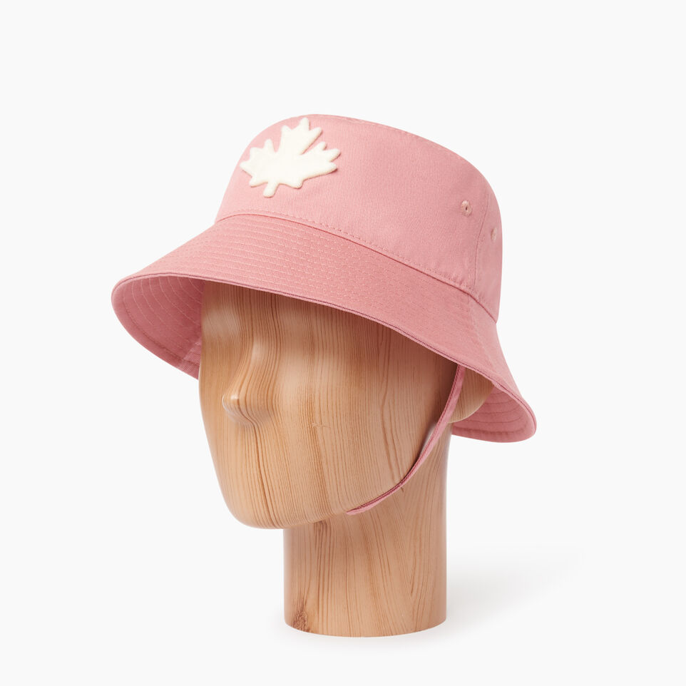 Roots-Kids Our Favourite New Arrivals-Toddler Canada Leaf Bucket Hat-Pink-B