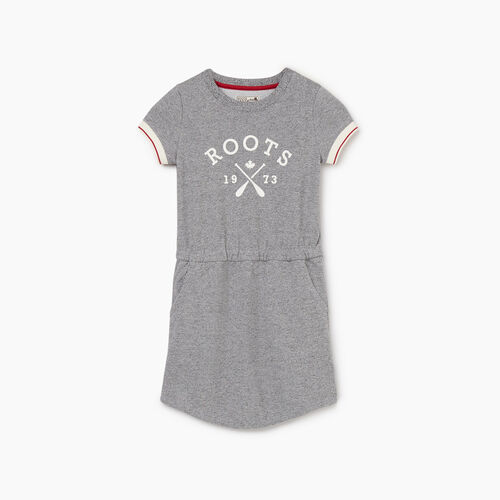 Roots-Kids New Arrivals-Girls Cabin Dress-Light Salt & Pepper-A