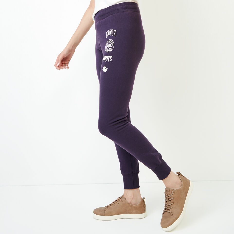 Roots-Women Categories-Stamps Slim Sweatpant-Night Shade-C