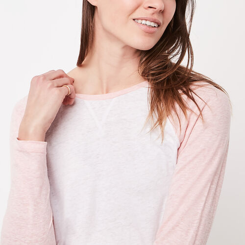 Roots-Sale Tops-Deerhurst Top-Silver Pink Mix-A