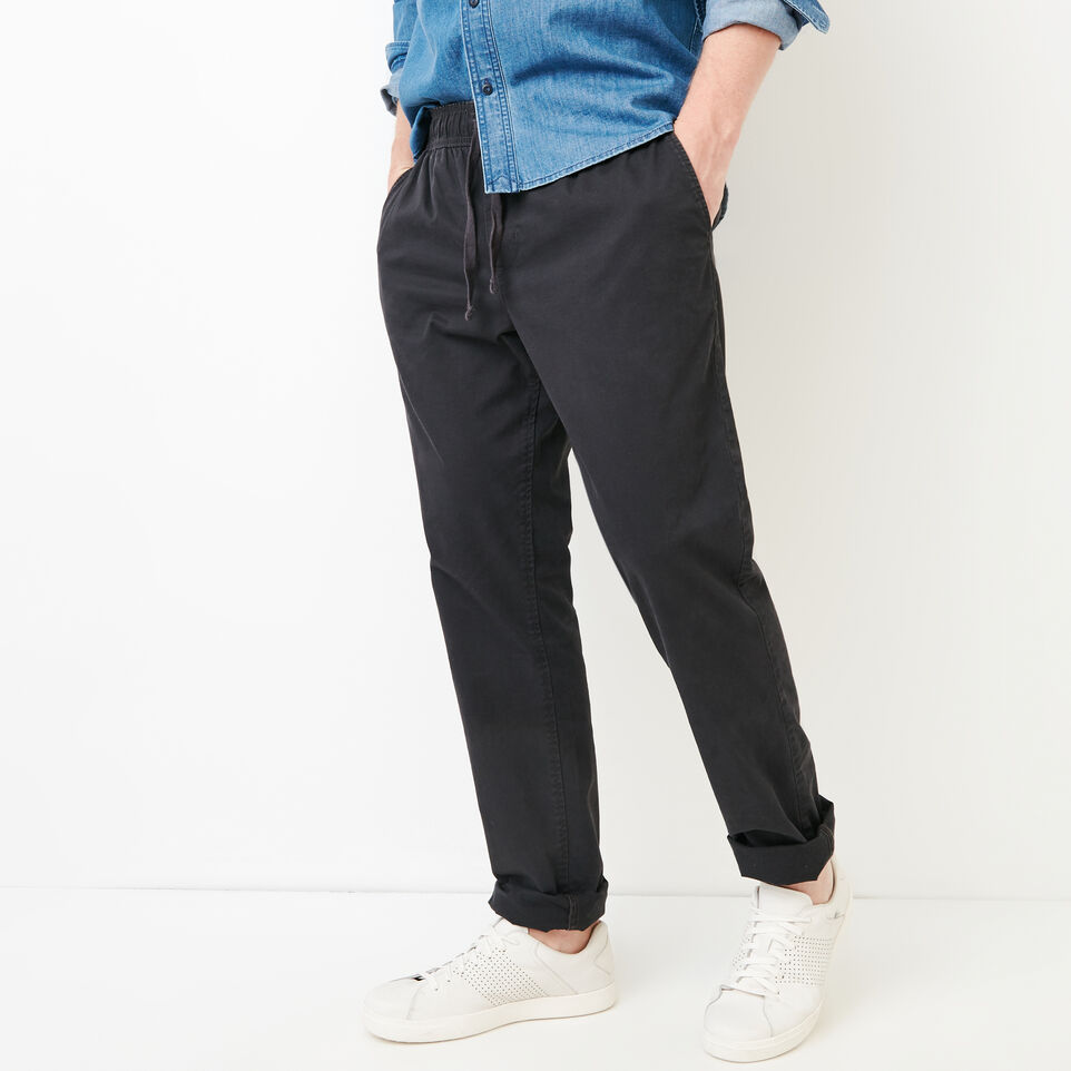 Roots-Men Our Favourite New Arrivals-Essential Pant-Charcoal-A