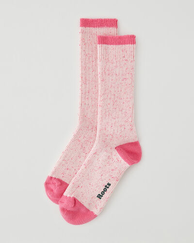 Roots-Women Accessories-Womens Camp Speckle Sock-Pink-A