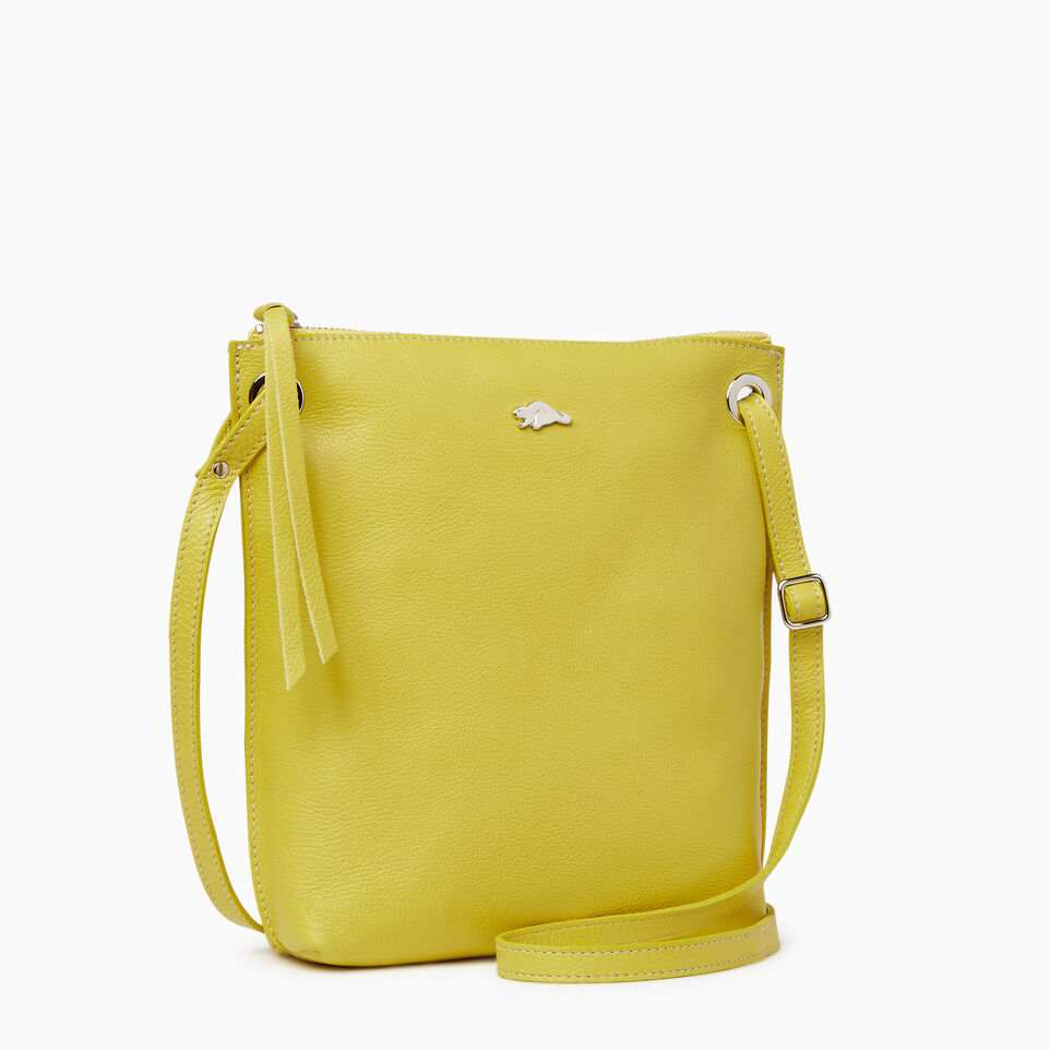 Roots-Leather  Handcrafted By Us Categories-Festival Bag-Yellow-A