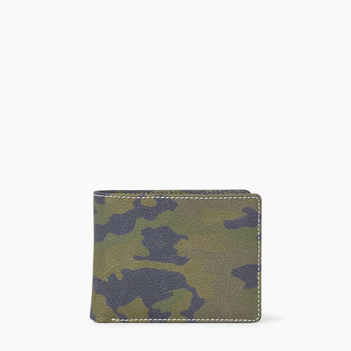 Roots-Hommes Cuir-Mens Slimfold Sideflap Camo-Vert Camouflage-A