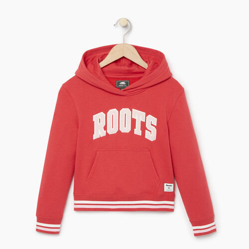 Roots-Kids Categories-Girls Roots Varsity Kanga Hoody-Chrysanthemum-A