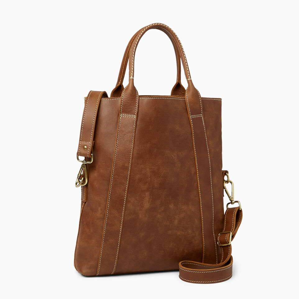 Roots-Leather  Handcrafted By Us Handbags-Annex Tote-Natural-C