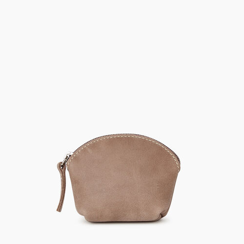 Roots-Women Leather Accessories-Small Euro Pouch-Fawn-A