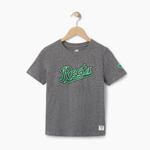 Roots-Kids Our Favourite New Arrivals-Boys Roots Script T-shirt-Salt & Pepper-A