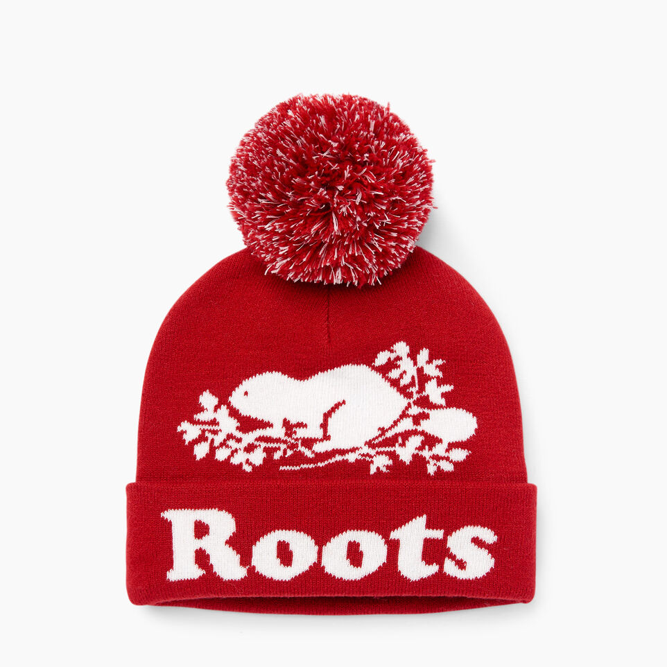 Roots-Sale Girls-Kids Cooper Glow Toque-Cabin Red-A