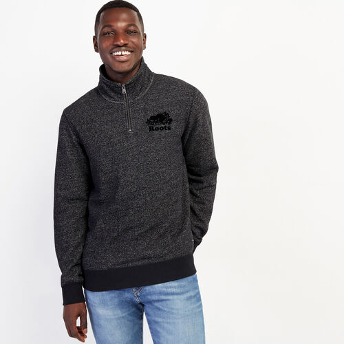 Roots-Sweats Men-Original Zip Stein-Black Pepper-A