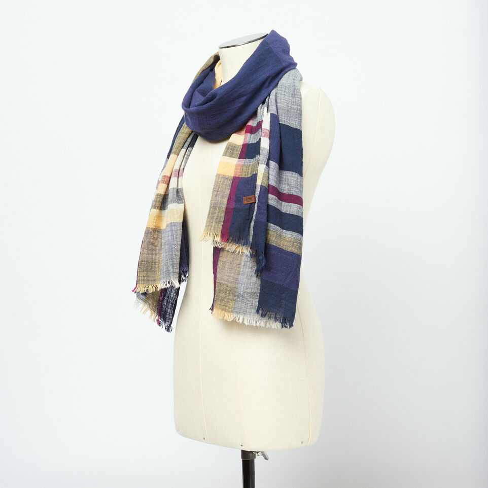 Roots-undefined-Womens Madras Scarf-undefined-B