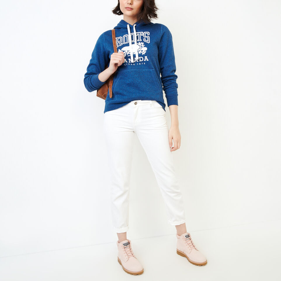 Roots-Women Tops-Classic Kanga Hoody-Olympus Blue Mix-B
