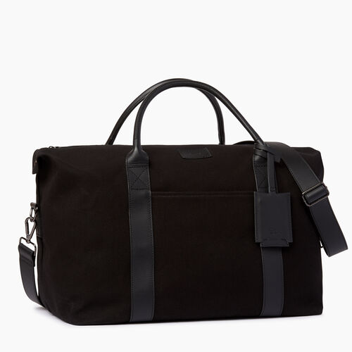 Roots-Leather  Handcrafted By Us Bestsellers-Whistler Weekender Canvas-Black-A