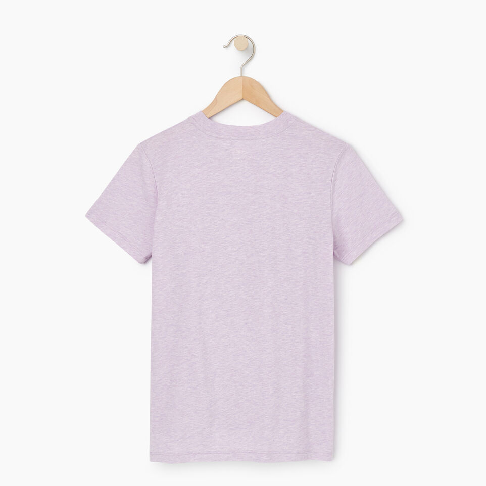Roots-Women Clothing-Womens Classic Roots Canada T-shirt-Lupine Mix-B