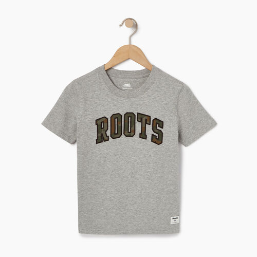 Roots-Clearance Kids-Toddler Arch Roots T-shirt-Grey Mix-A