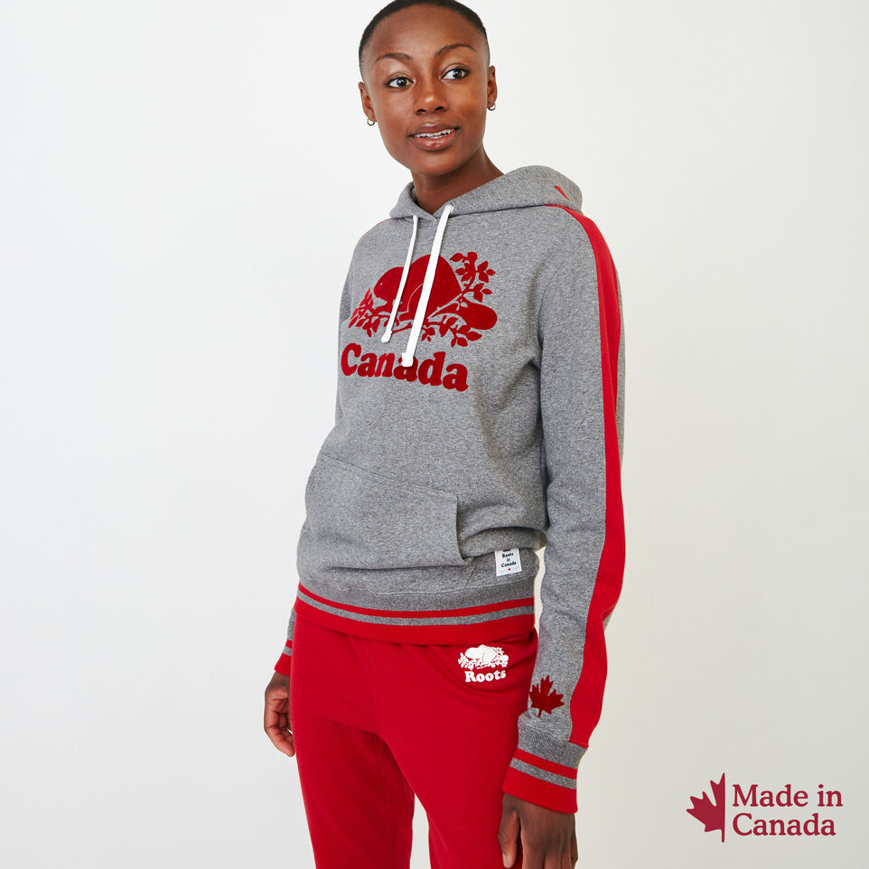 Roots-New For August Canada Collection By Roots™-Canada Kanga Hoody-Grey Mix Pepper-A