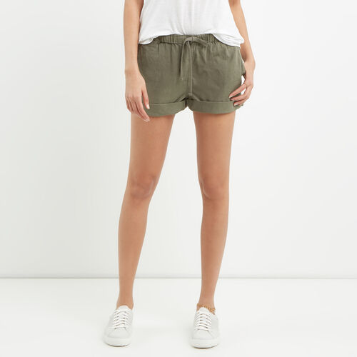 Roots-Women Shorts & Skirts-Woodland Short-Dusty Olive-A