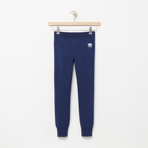 Roots-Clearance Kids-Girls Cozy Fleece Sweatpant-Blue Depths Mix-A