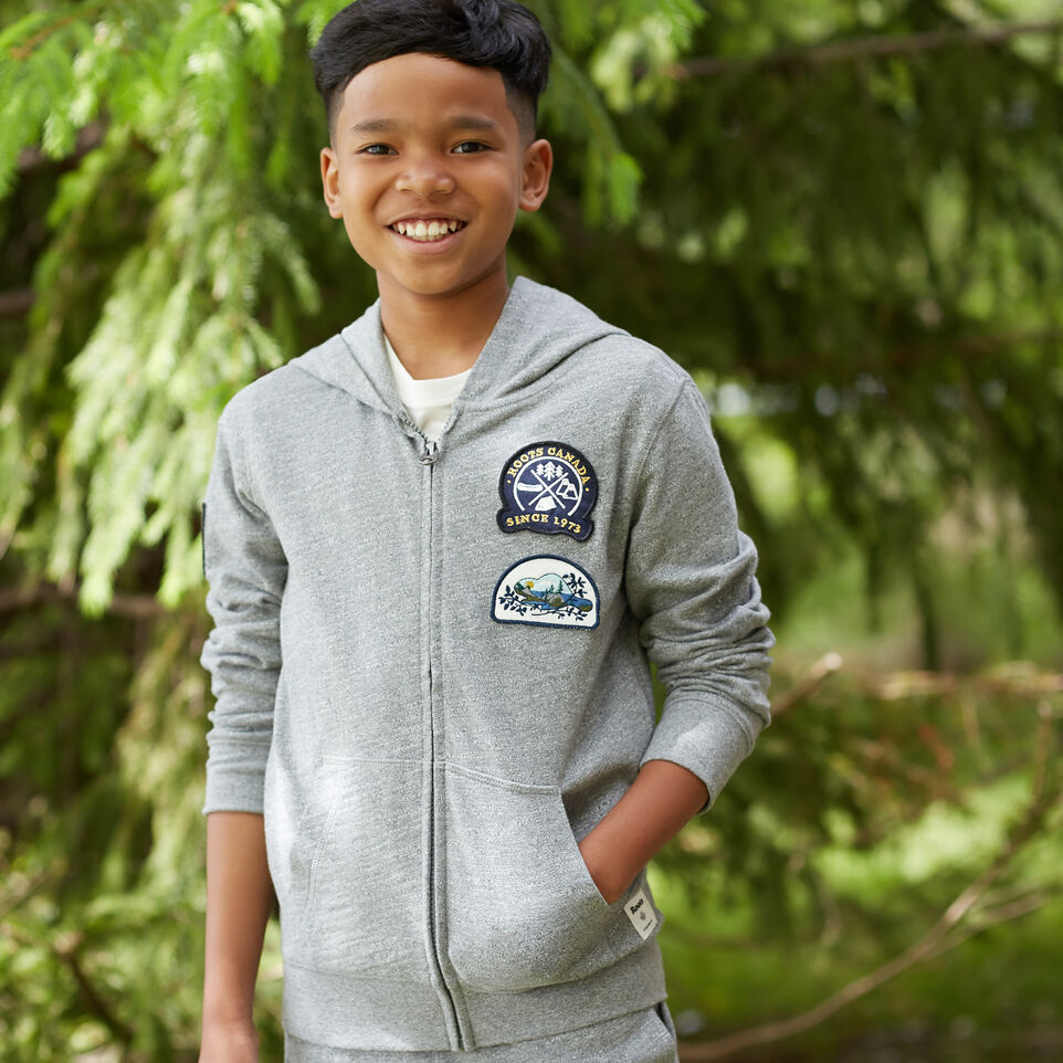 Roots-undefined-Boys Camp Patch Full Zip Hoody-undefined-A